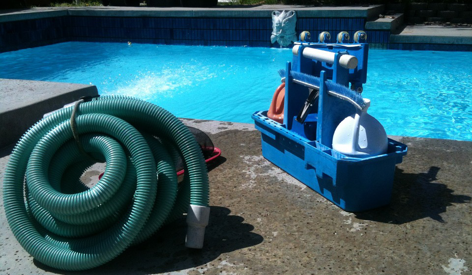 This is an image of pool cleaning and maintenance in Martinez
