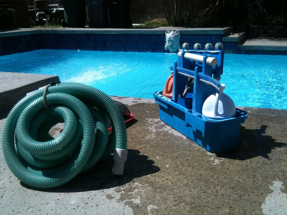 This is an image of swimming pool draining services